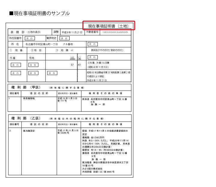 『全部事項証明書』は、登記所の窓口で所定の費用を支払い取得ができます。